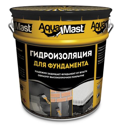 Мастика битумная AquaMast для фундамента (10 кг)