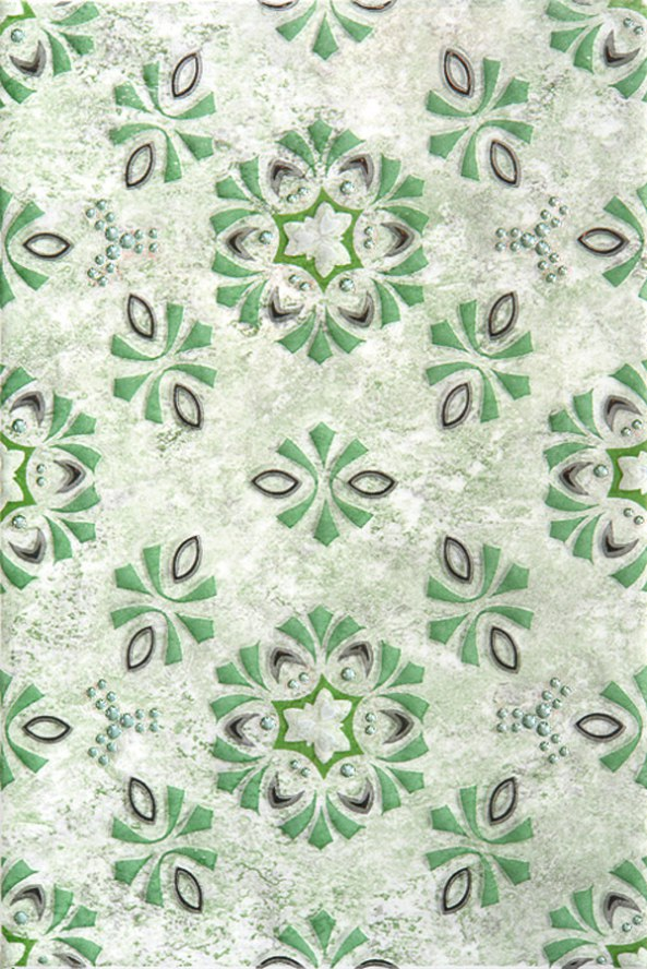 Плитка Кодры зеленый декор 03