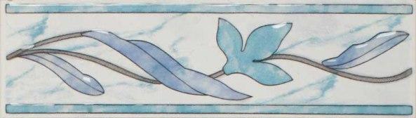 Плитка Венера голубая бордюр